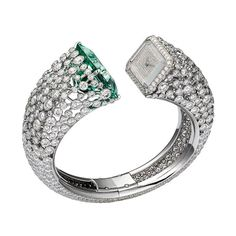 La montre béryl vert et diamants de Cartier