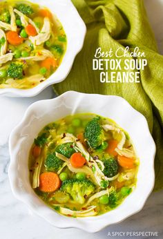 Healthy Chicken Detox Soup Recipe: Paleo, Gluten Free, Dairy Free and Cleansing Healthy Dinner Recipes, Soup Recipes, Chicken Recipes, Cooking Recipes, Juice Recipes, Cleanse Recipes, Paleo Dinner, Drink Recipes, Vegan Recipes