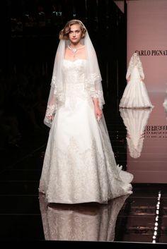 Collezione 2014 Sposa Carlo Pignatelli Sfilata Milano  a Si Sposa Italia Collezioni