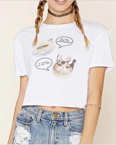Animal cat t shirt for girls white t shirts letter design