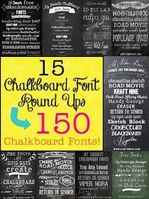 The Scrap Shoppe: Mega Chalkboard Font Round Up!