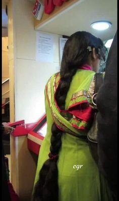 Long Silky Hair, Long Black Hair, Super Long Hair, Long Hair Indian Girls, Indian Long Hair Braid, Beautiful Braids, Beautiful Long Hair, Indian Bun Hairstyles, Saree Backless