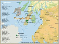 Whisky Regions of Scotland · Chart 23: Region Campbeltown (Malt Distilleries (working/ closed)) www.alba-collecti...