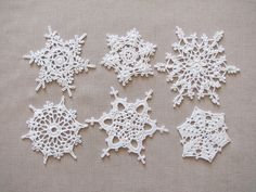 White lace snowflakes Christmas decors Xmas tree ornaments