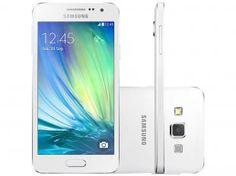 "Smartphone Samsung Galaxy A3 Duos 16GB Dual Chip - 4G Câm. 8MP + Selfie 5MP Tela 4.5"" Proc. Quad Core"