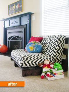 Before & After: Pallets, from Scrap to Sofa | Apartment Therapy