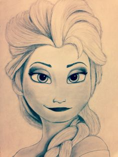 Saw Frozen today and the animation inspired me to sketch Elsa. She's, in my opinion, the most beautiful female character Disney has ever created!