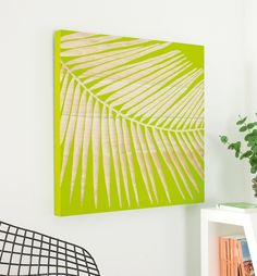 Palm leaf wall carving
