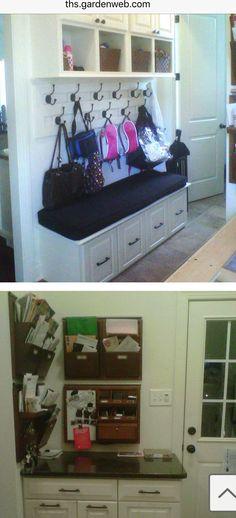 L-Shaped Mudroom Corner (Wide Bench / Bookbag Shelf in One ...