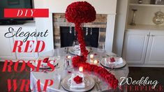 In this video I show you how to make a DIY Red Roses Wrap Centerpiece with items from Dollar Tree. This DIY Centerpiece is going to look ab. Diy Reception Decorations, Vintage Wedding Centerpieces, Rose Centerpieces, Red Wedding Receptions, Wedding Wraps, Wedding Ideas, Decor Wedding, Wedding Blog, Wedding Planner