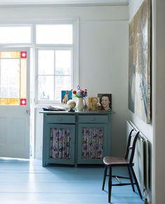 Floor in Lulworth Blue Floor Paint