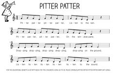 Let's Play Music : Free Sheet Music (tune) Pitter Patter Rain Song - free resource section of Let's Play Music - loads of sheet music for nursery rhymes and music theory printables. Kindergarten Music, Preschool Music, Music Activities, Fun Songs, Kids Songs, Music Songs, Music Lesson Plans, Music Lessons, Violin Lessons
