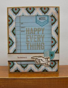 card by Lynn Darda using CTMH Jackson paper
