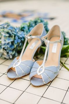 Rachel Simpson - Mimosa Powder Blue Wedding Shoes Bride Vintage Image by Emma Case