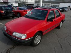 Ford Sierra Limousine in Rot als Gebrauchtwagen in Dortmund für € Ford Sierra, Limousine, 4x4, Autos, Dortmund, Used Cars