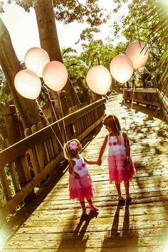 Sisters! Balloons! Love. Portfolio - Little Blue Bow Photography  littlebluebowphotography.com  San Diego