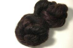 HANA Kidmohair Silk in Black Tulip  One of a Kind by Lichtfaden