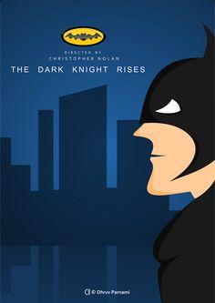 #Batman movie  #TheDarkKnightRises poster by © DhruvParnami