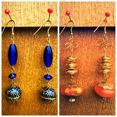 Ethnic earrings made from glass beads #littlewildthings #handmadejewelry #soumyaprakash #handmadeearrings #earrings