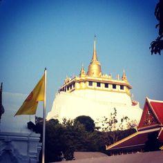 พระบรมบรรพต (ภูเขาทอง) Golden Mount- Walk up the Golden Mount at Wat Saket for a view of the city before boarding a tuk-tuk (a motorized rickshaw) to the Grand Palace.