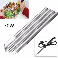 4pcs 30W Replaceable Electronic Soldering Iron Tips 3mm Shank for 30W Solder Iron