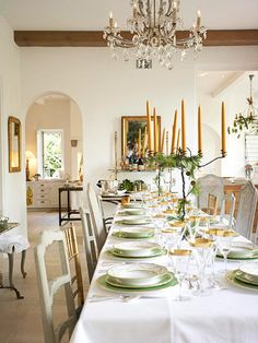 Yes to those candelabras decked in pine boughs!