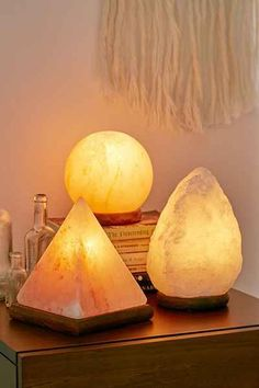 Pyramid Salt Rock Lamp - Urban Outfitters #UOonCampus #UOContest