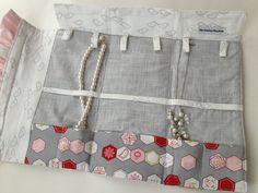 Necklace Travel Case in needle gray and by thesewingmachine, $44.00