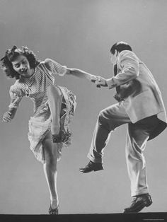 Photographic Print: Kaye Popp and Stanley Catron Demonstrating a Step of the Lindy Hop by Gjon Mili : 24x18in