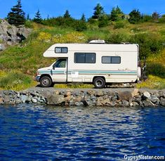 "RVing in Newfoundland - How to get there! Yes, you can ""drive"" to Newfoundland - a GREAT RV destination (in the summer, of course! And, honestly, the friendliest people you'll ever meet! See everything you need to know here: www. Rv Travel, Canada Travel, Newfoundland And Labrador, Newfoundland Canada, Camping Humor, Camping Tips, Great Places, Places To See, Road Trippers"