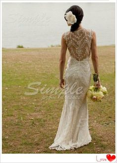 Cheap Custom Made Sleeveless Sexy Lace Wedding Dress, Mermaid Lace Bridal Gown, Lace Bridal Dress, Wedding Party Dress