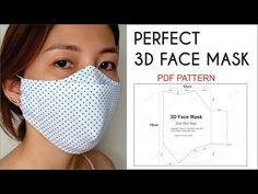 Easy Face Masks, Best Face Mask, Diy Face Mask, Homemade Face Masks, Small Sewing Projects, Sewing Hacks, Sewing Tutorials, Dress Tutorials, Mascara 3d