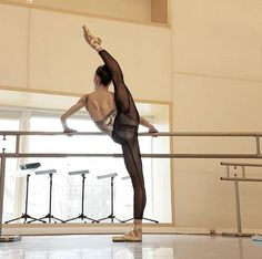 Margen Fuerte,Principal Dancer de Víctor Ullate wearing the Flexistretcher Mesh Tight with Back seam