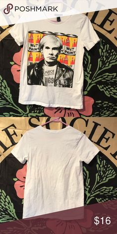 d141430f6a Andy Warhol White T-shirt Andy Warhol White T-shirt, no rips or