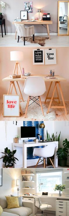 Trendy Bedroom Decoration Small Home Office Ideas Home Office Design, Home Office Decor, Office Style, Home Decor, Office Ideas, Studio Loft, Home Office Closet, Workspace Inspiration, Decoration Design