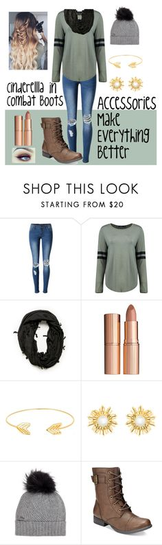 """Falling into Fall Fashion Early"" by kaitlyn-emanuel ❤ liked on Polyvore featuring WithChic, Boohoo, Charlotte Tilbury, Lord & Taylor, Oscar de la Renta, Woolrich and American Rag Cie"