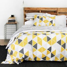 Campus Tangent Duvet Set #worthynzhomeware wwworthy.co.nz