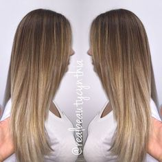 Balayage sombre on straight hair so you can see the blend just added a few…