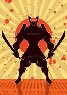 Shadow Samurai asian, assassin, background, book, cartoon, character, clip art, clipart, comic, culture, design element, fighter, figure, flag, grunge, japan, japanese, katana, martial arts, ninja, ronin, rounin, samurai, shadow, silhouette, style, stylized, sunburst, sword, warrior, Shadow Samurai