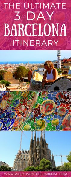 The Ultimate 3 day barcelona itinerary #spaintravel