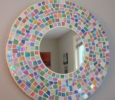 Huge Mosaic Mirror - Pastel Stained Glass. $75.00, via Etsy.