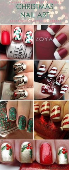 "I like the ""Santa Hat"" nails I'm the top right corner"