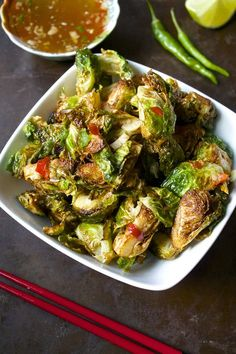 Crispy Thai Brussels Sprouts with Fish Sauce