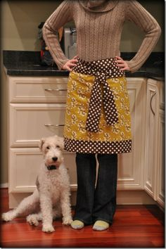 Easy sew apron.  Great for the holidays!