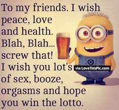5 Funny New Year Wishes - Minion Quotes Happy New Year Minions, Happy New Year Quotes Funny, New Year Wishes Funny, New Year Quotes For Friends, New Year Jokes, New Year Wishes Quotes, Friend Love Quotes, Happy New Year Images, Quotes About New Year