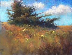 """Turquoise and Gold by Jacob Aguiar Pastel ~ 14"""" x 18"""""""