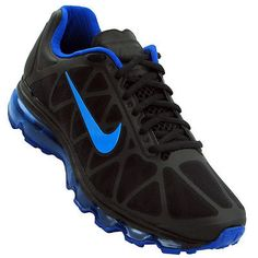 Nike Air Max 2011 Mens 684530-005 Black Royal Blue Athletic Running Shoes Sz 8.5