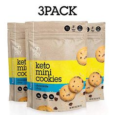 KETO & LOW CARB FRIENDLY: HighKey Snacks Keto Mini Cookies are a diet-friendly snack made with wholesome ingredients for a sweet treat. Low in net carbs Healthy Low Carb Snacks, Healthy Recipes, Healthy Desserts, Gluten Free Puff Pastry, Mini Cookies, Cream Soup, Ketogenic Recipes, Chocolate, Clean Eating Snacks