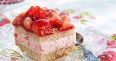 Jogurt torta s jagodama Chocolate Strawberry Cake, Strawberry Cakes, Strawberry Recipes, Yummy Treats, Delicious Desserts, Sweet Treats, Dessert Recipes, Refreshing Desserts, Pie Dessert
