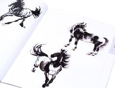 Sumi-e horse paintings #asian #artwork